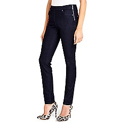 Wallis - Demi indigo side zip jegging