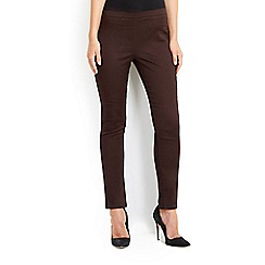Wallis - Choc tinseltown pull on trouser