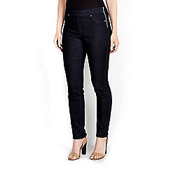 Wallis - Indigo side zip jegging