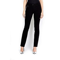 Wallis - Black zip pocket ponte trouser