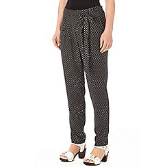 Wallis - Monochrome polka dot trouser
