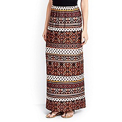 Wallis - Stone tribal print maxi skirt