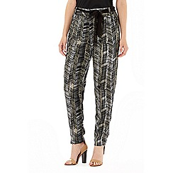 Wallis - Stone print tapered trouser