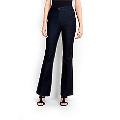 Wallis - Indigo welt pocket flare jean
