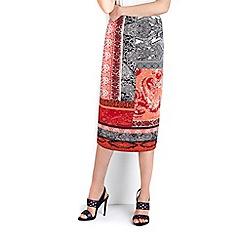 Wallis - Paisley print skirt
