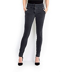 Wallis - Grey military skinny jean