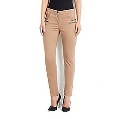 Wallis - Camel double zip skinny trouser
