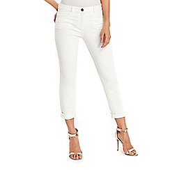 Wallis - Scarlet cream  roll up jeans