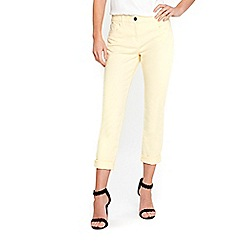 Wallis - Scarlet yellow roll up jeans