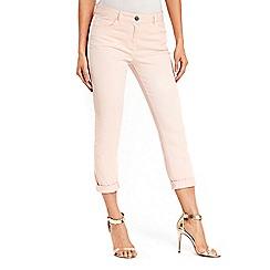 Wallis - Scarlet pink roll up jeans