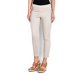 Wallis - Stone cotton stretch crop trouser