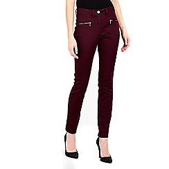Wallis - Berry zip pocket trouser