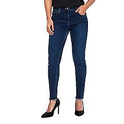 Wallis - Indigo ellie frayed hem jeans