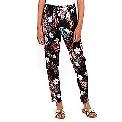 Wallis - Black floral printed trouser