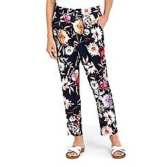 Wallis - Floral rose print jogger trouser