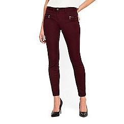Wallis - Berry zip pocket trousers
