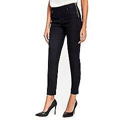 Wallis - Indigo demi side zip jeans