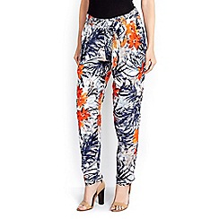 Wallis - Orange floral trouser