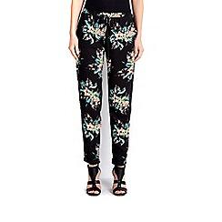 Wallis - Black tropical jogger trouser