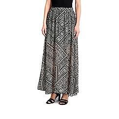 Wallis - Monochrome maxi skirt