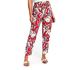 Wallis - Red ground floral trousers