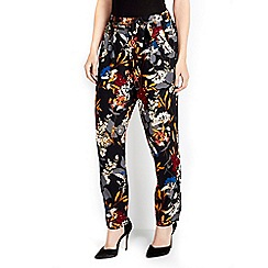 Wallis - Floral print tapered trouser