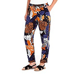 Wallis - Printed palm trouser