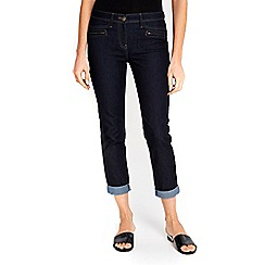 Wallis - Scarlet indigo roll up jeans
