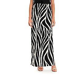 Wallis - Black animal printed maxi skirt
