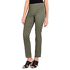 Wallis - Khaki side zip trouser