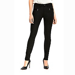 Wallis - Black fly front trousers