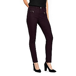 Wallis - Berry fly front trousers