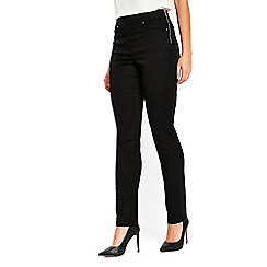 Wallis - Black soft side zip trousers