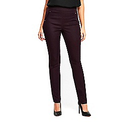 Wallis - Purple soft side zip trousers