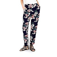 Wallis - Navy floral printed trouser