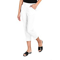 Wallis - White stretch trousers