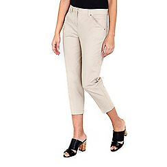 Wallis - Stone stretch crop trousers