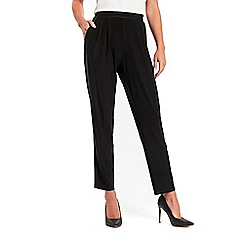 Wallis - Black piped soft trousers