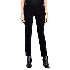 Wallis - Zip pocket black tregging