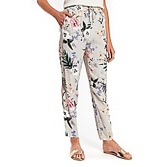 Wallis - Grey floral trousers