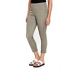 Wallis - Khaki capri trousers
