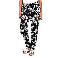 Wallis - Black and blush trouser