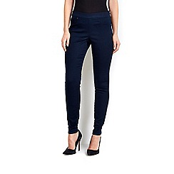 Wallis - Navy side zip trousers