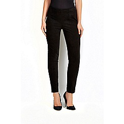Wallis - Black suedette legging
