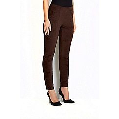 Wallis - Brown suedette legging