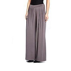 Wallis - Grey pleated wide leg trouser