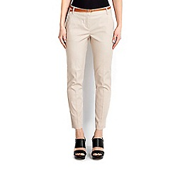 Wallis - Stone stretch cigarette trouser