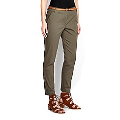 Wallis - Khaki stretch cigarette trouser