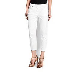Wallis - White stretch crop trousers