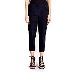 Wallis - Navy stretch crop trousers